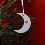 Moon & Back Porcelain Hanging Decorations
